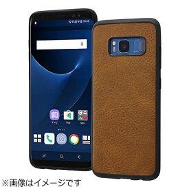 レイアウト rayout Galaxy S8用 オープンレザーケース スマート ダークブラウン RT-GS8LC12/DK