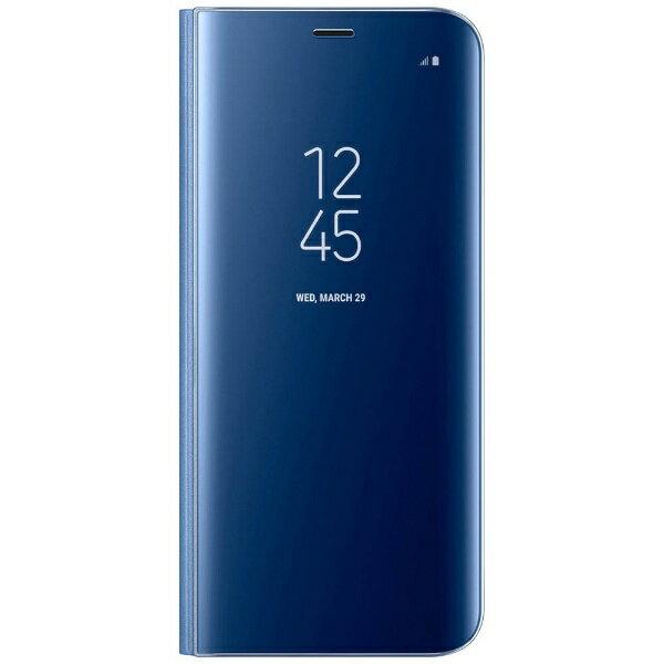 SAMSUNG 【サムスン純正】 Galaxy S8+用 ClearViewカバー ブルー EF-ZG955CLEGJP