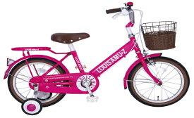 タマコシ Tamakoshi 18型 幼児用自転車 ルイスアミューズキッズ18(ピンク/シングル)【組立商品につき返品不可】 【代金引換配送不可】