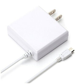 PGA [micro USB]ケーブル一体型AC充電器 2A (2m・ホワイト)PG-MAC20A02WH