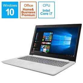 レノボジャパン Lenovo 80XL00MPJP ノートパソコン Ideapad (アイデアパッド )320 ブリザードホワイト [15.6型 /intel Core i7 /HDD:1TB /メモリ:4GB /2017年6月モデル][80XL00MPJP]