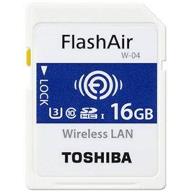 東芝 TOSHIBA 16GB・UHS Speed Class3(Class10)対応無線LAN搭載SDHCカード「FlashAir」 SD-UWA016G[SDUWA016G]