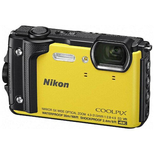 【送料無料】 ニコン W300 コンパクトデジタルカメラ COOLPIX(クールピクス) イエロー [防水+防塵+耐衝撃]