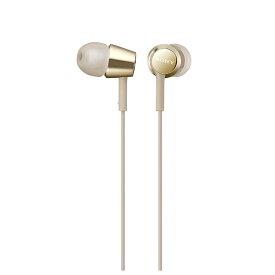 ソニー SONY イヤホン カナル型 MDR-EX155AP ゴールド [リモコン・マイク対応 /φ3.5mm ミニプラグ][MDREX155APNQ]