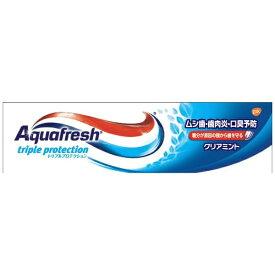 アース製薬 Earth アクアフレッシュ(Aquafresh) 歯磨き粉 クリアミント 35g【wtcool】