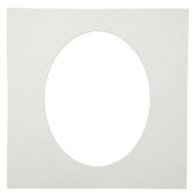 チクマ Chikuma カスタム中台紙 6切り楕円 (ホワイト)