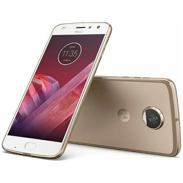 【送料無料】 モトローラ Moto Z2 Playファインゴールド「AP3835AJ1J4」 Snapdragon 626 5.5型・メモリ/ストレージ:4GB/64GB nanoSIMx2 ドコモ/YmobileSIM対応 SIMフリースマートフォン[AP3835AJ1J4]