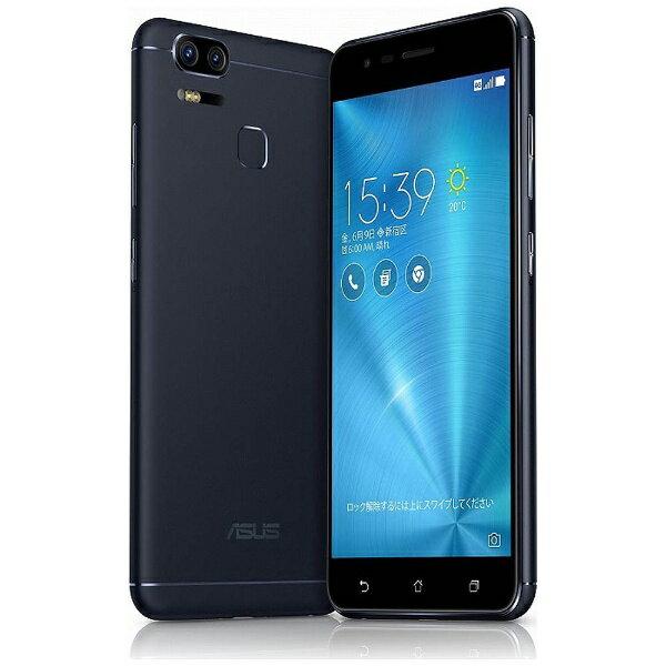 【送料無料】 ASUS Zenfone Zoom S (ZE553KL) ネイビーブラック 「ZE553KL-BK64S4」 Android 6.0.1・5.5型・メモリ/ストレージ:4GB/64GB nanoSIMx1 nanoSIM or micro SDx1 SIMフリースマートフォン