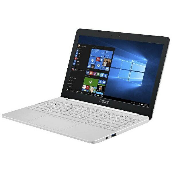 【送料無料】 ASUS 11.6型ノートPC[Win10 Home・Celeron・eMMC 64GB・メモリ 4GB] ASUS VivoBook E203NA パールホワイト E203NA-464W (2017年7月モデル)[E203NA464W]