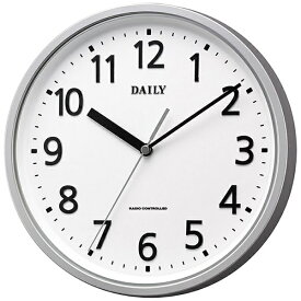リズム時計 RHYTHM 掛け時計 【デイリーMY34】 銀 4MYA34DN19 [電波自動受信機能有]