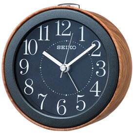 セイコー SEIKO 目覚まし時計 ナチュラルスタイル 濃茶木目模様 KR504A [アナログ]