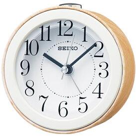 セイコー SEIKO 目覚まし時計 ナチュラルスタイル 薄茶木目模様 KR504B [アナログ]