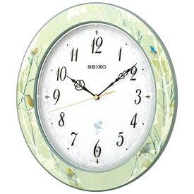 セイコー SEIKO 掛け時計 【ナチュラルスタイル(野鳥報時)】 薄緑模様 RX214M [電波自動受信機能有]