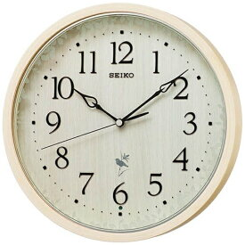 セイコー SEIKO 掛け時計 【ナチュラルスタイル(野鳥報時)】 天然色木地 RX215A [電波自動受信機能有]