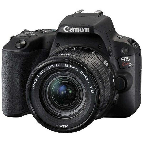 【送料無料】 キヤノン CANON EOS Kiss X9(W)【EF-S18-55 IS STM レンズキット】(ブラック/デジタル一眼レフカメラ)[KISSX9BK1855F4ISSTML]