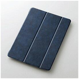 エレコム ELECOM iPad 9.7インチ(第6/5世代)用 フラップカバー ソフトレザーフラップ 2アングル 極み設計 ブルー TB-A179WVKBUC[TBA179WVKBUC]