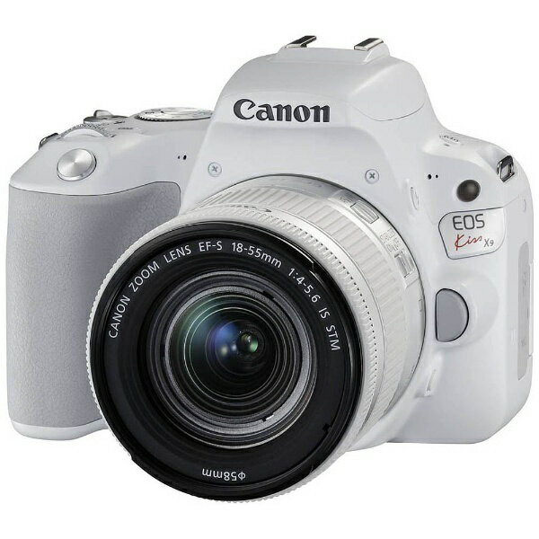 【送料無料】 キヤノン CANON EOS Kiss X9(W)【EF-S18-55 IS STM レンズキット】(ホワイト/デジタル一眼レフカメラ)[KISSX9WH1855F4ISSTML]