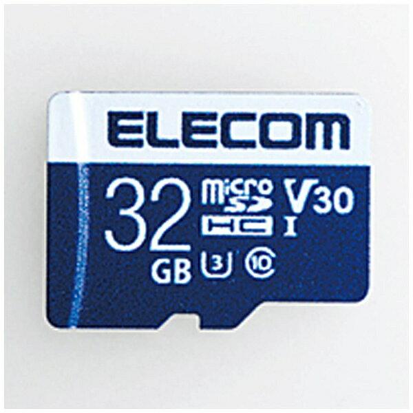 【送料無料】 エレコム 32GB・ビデオスピードクラス対応 UHS-I U3 80MB データ復旧サービス付 MicroSDHCカード MF-MS032GU13V3R[MFMS032GU13V3R]