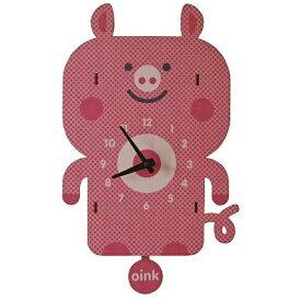 ダイヤモンド 掛け時計 3Dブタ振り子時計 PCPEN029 modern moose(モダンムース) 9806002