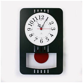 ヤマト工芸 yamato 掛け時計 レトロモダンクロック ダークグリーン YK15-001