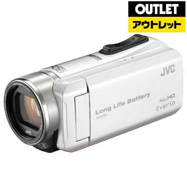 【送料無料】 JVC ジェイブイシー 【アウトレット品】SD対応 32GBメモリー内蔵フルハイビジョンビデオカメラ(パールホワイト) GZ-F200-W[GZF200W]