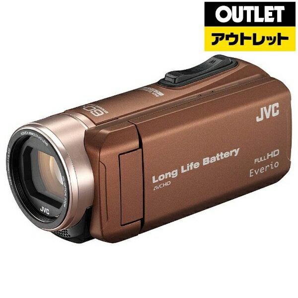 【送料無料】 JVC 【アウトレット品】SD対応 32GBメモリー内蔵フルハイビジョンビデオカメラ(ライトブラウン) GZ-F200-T[GZF200T]
