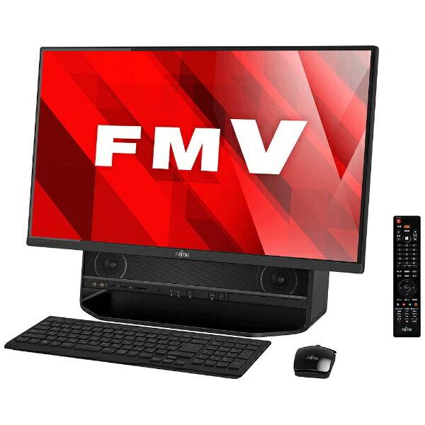 【送料無料】 富士通 27型デスクトップPC[TVチューナ・Office付き・Win10 Home・Core i7・HDD 3TB・メモリ 8GB] FMV ESPRIMO FH90/B2 オーシャンブラック FMVF90B2B (2017年7月モデル)
