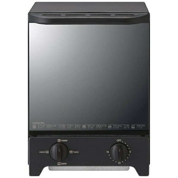 コイズミ KOIZUMI KOS-1021-K オーブントースター ブラック[KOS1021K] [一人暮らし 単身 単身赴任 新生活 家電]
