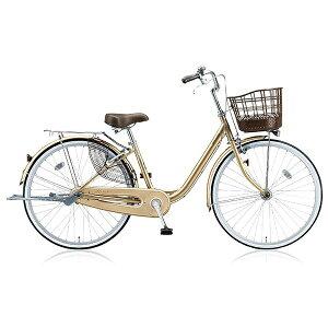 ブリヂストン BRIDGESTONE 26型 自転車 アルミーユ(M.Xプレシャスベージュ/3段変速) AU63T【2017年/点灯虫モデル】【組立商品につき返品不可】 【代金引換配送不可】