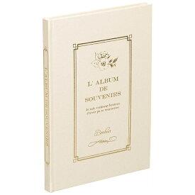 ナカバヤシ Nakabayashi 箔押しビニールクロス表紙アルバム 100年台紙 ブック式 B5(ホワイト)ア-H-B5B183-W[アHB5B183W]
