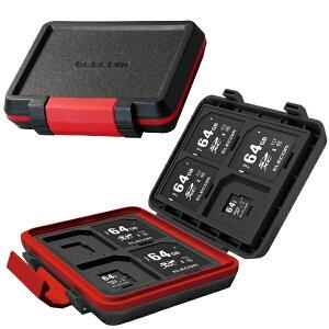 エレコム ELECOM SD/microSDカードケース(耐衝撃) ブラック CMC-SDCHD01BK[CMCSDCHD01BK]