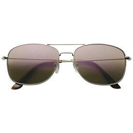 名古屋眼鏡 Nagoya Gankyo メタル ファッションサングラス 7860-02(ライトゴールド/グリーンスモークパープルミラー)