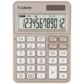 キヤノン CANON カラフル電卓 ミニ卓上 Pearl Pink KS-125WUC-PK [W税率対応 /12桁][KS125WUCPKSOB]