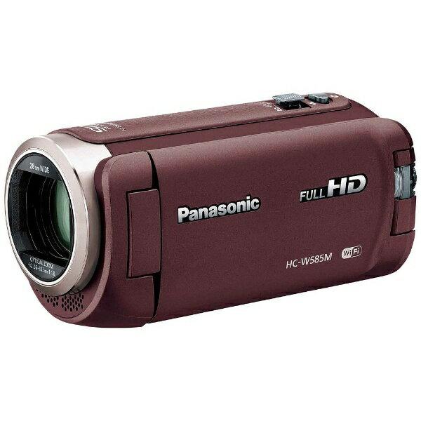 【送料無料】 パナソニック Panasonic SD対応 64GBメモリー内蔵フルハイビジョンビデオカメラ(ブラウン) HC-W585M-T[HCW585MT]