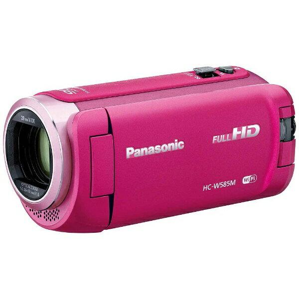 【送料無料】 パナソニック Panasonic SD対応 64GBメモリー内蔵フルハイビジョンビデオカメラ(ピンク) HC-W585M-P[HCW585MP]