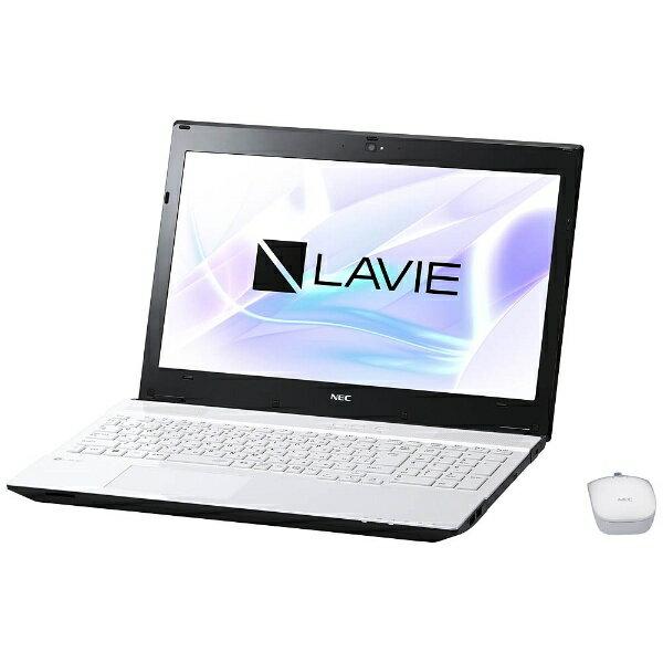 【送料無料】 NEC 15.6型ノートPC[Office付き・Win10 Home・Core i3・HDD 1TB・メモリ 4GB]  LAVIE Note Standard クリスタルホワイト PC-NS350HAW (2017年夏モデル)[PCNS350HAW]