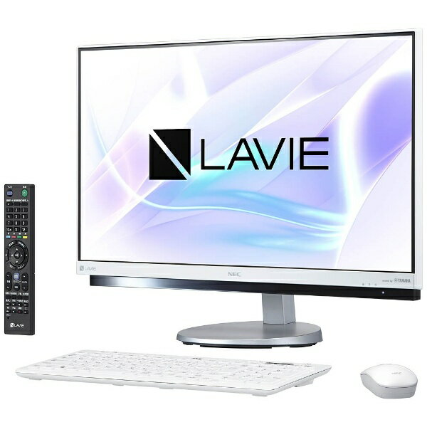 【送料無料】 NEC 23.8型デスクトップPC[TVチューナ・Office付き・Win10 Home・Core i7・HDD 3TB・メモリ 8GB] LAVIE Desk ALL-in-one ファインホワイト PC-DA770HAW (2017年夏モデル)[PCDA770HAW]