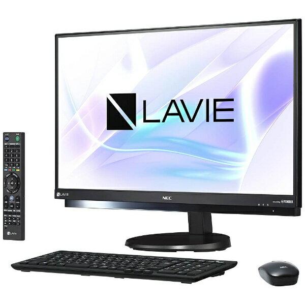 【送料無料】 NEC 23.8型デスクトップPC[TVチューナ・Office付き・Win10 Home・Core i7・HDD 3TB・メモリ 8GB] LAVIE Desk ALL-in-one ファインブラック PC-DA770HAB (2017年夏モデル)[PCDA770HAB]