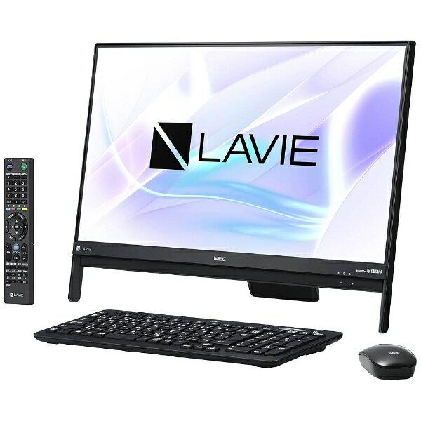【送料無料】 NEC 23.8型デスクトップPC[TVチューナ・Office付き・Win10 Home・Core i5・HDD 3TB・メモリ 4GB] LAVIE Desk ALL-in-one ファインブラック PC-DA570HAB (2017年夏モデル)[PCDA570HAB]