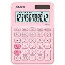 カシオ カラフル電卓(12桁) MW-C20C-PK-N ペールピンク