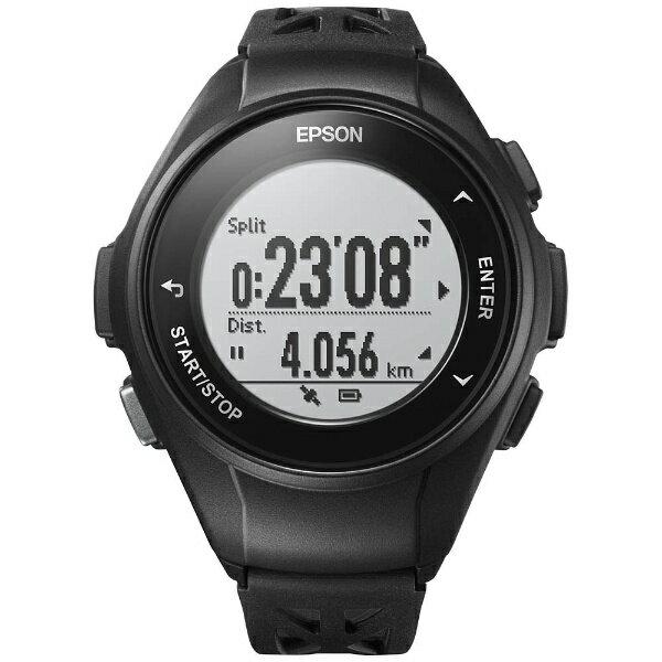 エプソン EPSON GPSランニングウオッチ 「WristableGPS」 Q-10B ブラック[Q10B]