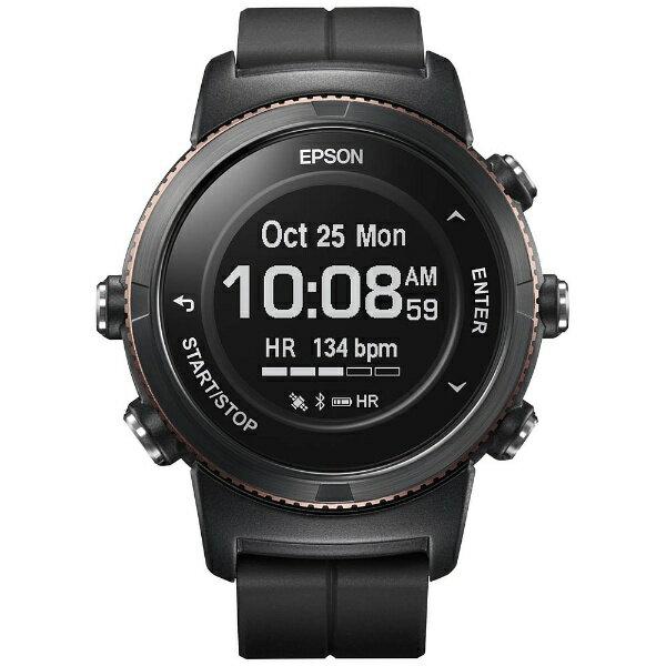 【送料無料】 エプソン EPSON GPSランニングウオッチ 「WristableGPS」 U-350BS ブラックサファイア[U350BS]