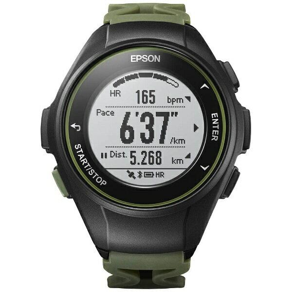 【送料無料】 エプソン EPSON GPSランニングウオッチ 「WristableGPS」 J-50K カーキ