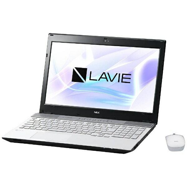 【送料無料】 NEC 15.6型タッチ対応ノートPC[Office付き・Win10 Home・Core i7・SSHD 1TB・メモリ 8GB] LAVIE Note Standard クリスタルホワイト PC-NS750HAW (2017年夏モデル)[PCNS750HAW]