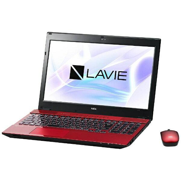【送料無料】 NEC 15.6型タッチ対応ノートPC[Office付き・Win10 Home・Core i7・SSHD 1TB・メモリ 8GB] LAVIE Note Standard クリスタルレッド PC-NS750HAR (2017年夏モデル)[PCNS750HAR]