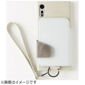 トーモ toomo Xperia XZs / Xperia XZ用 RAKUNI Leather Case with Strap ストーン RAK-XpXZs-stn