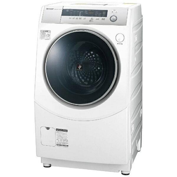 【標準設置費込み】 シャープ [左開き] ドラム式洗濯乾燥機 (洗濯10.0kg/乾燥6.0kg) ES-H10B-WL ホワイト系 【洗濯槽自動お掃除・ヒーター乾燥機能付】