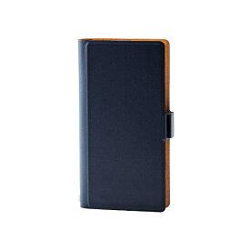 エレコム ELECOM スマートフォン用[幅 75mm/5.2インチ] マルチカバー マグネットタイプ Lサイズ ネイビー P-02PLFUMNV