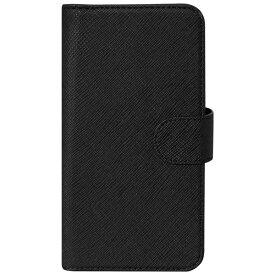 OWLTECH オウルテック スマートフォン用[幅 73mm/5.2インチ] PUレザースライド式 手帳型マルチケース ブラック OWL-CVMUM08-BK