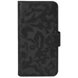 OWLTECH オウルテック スマートフォン用[幅 73mm/5.2インチ] スライド式 手帳型マルチケース 迷彩柄 ブラック OWL-CVMUM07-BK
